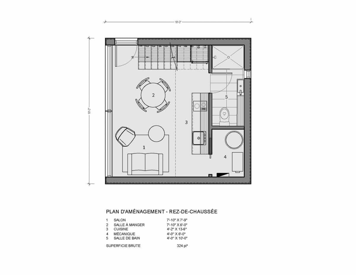 Plan de mini maison Adenia