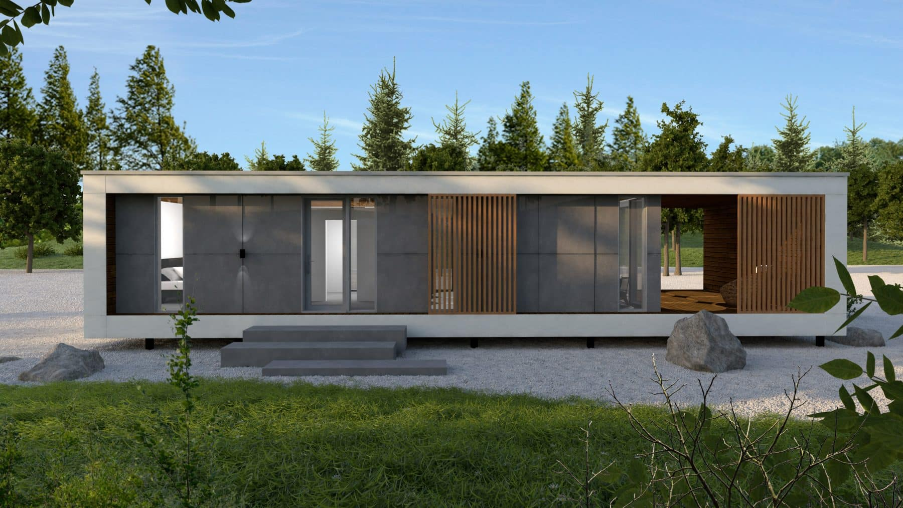Mini maison container plan Ness