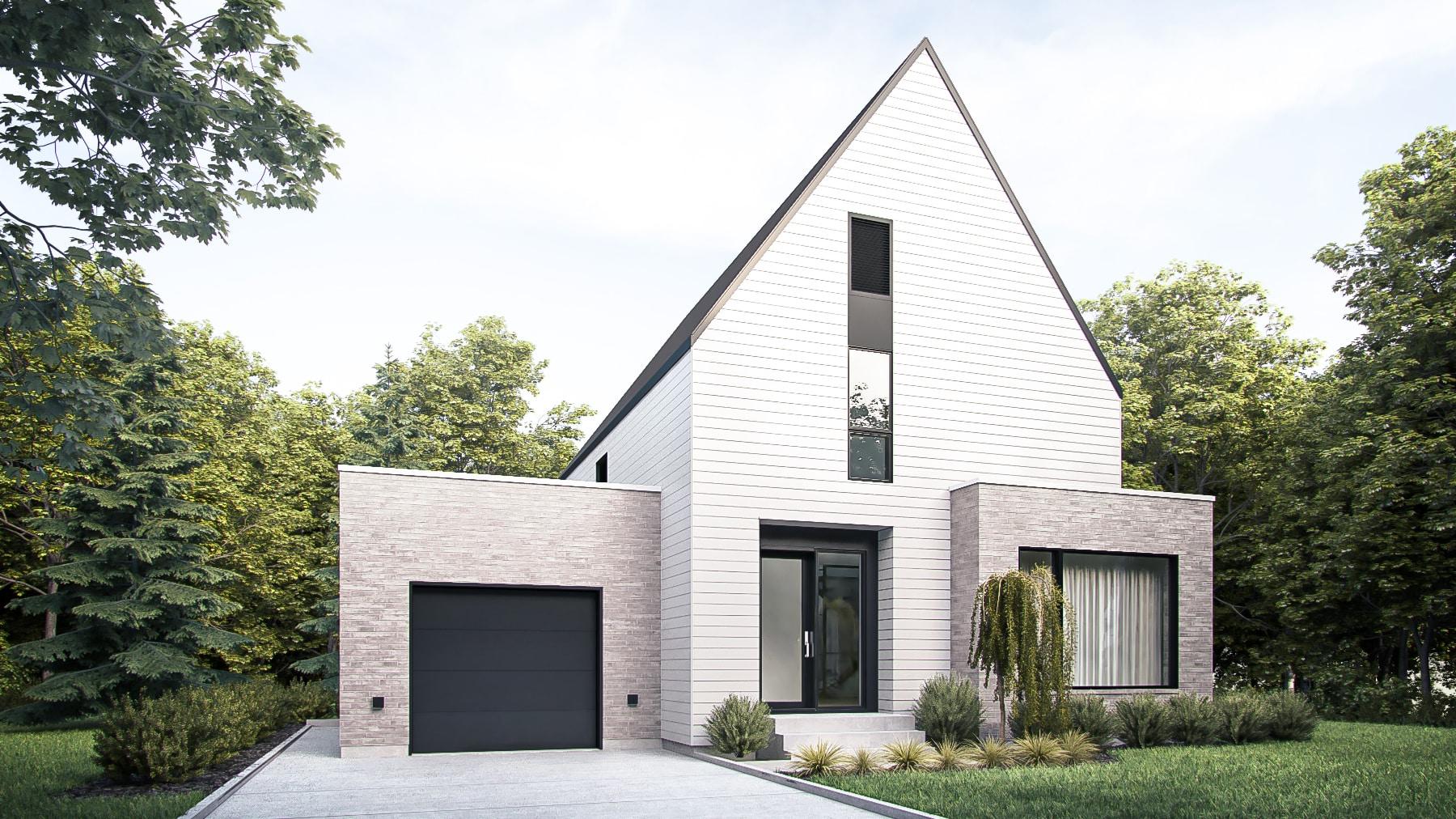 Façade plan maison Loken