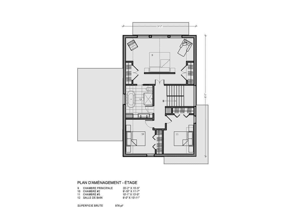 Plan de maison étage Loken