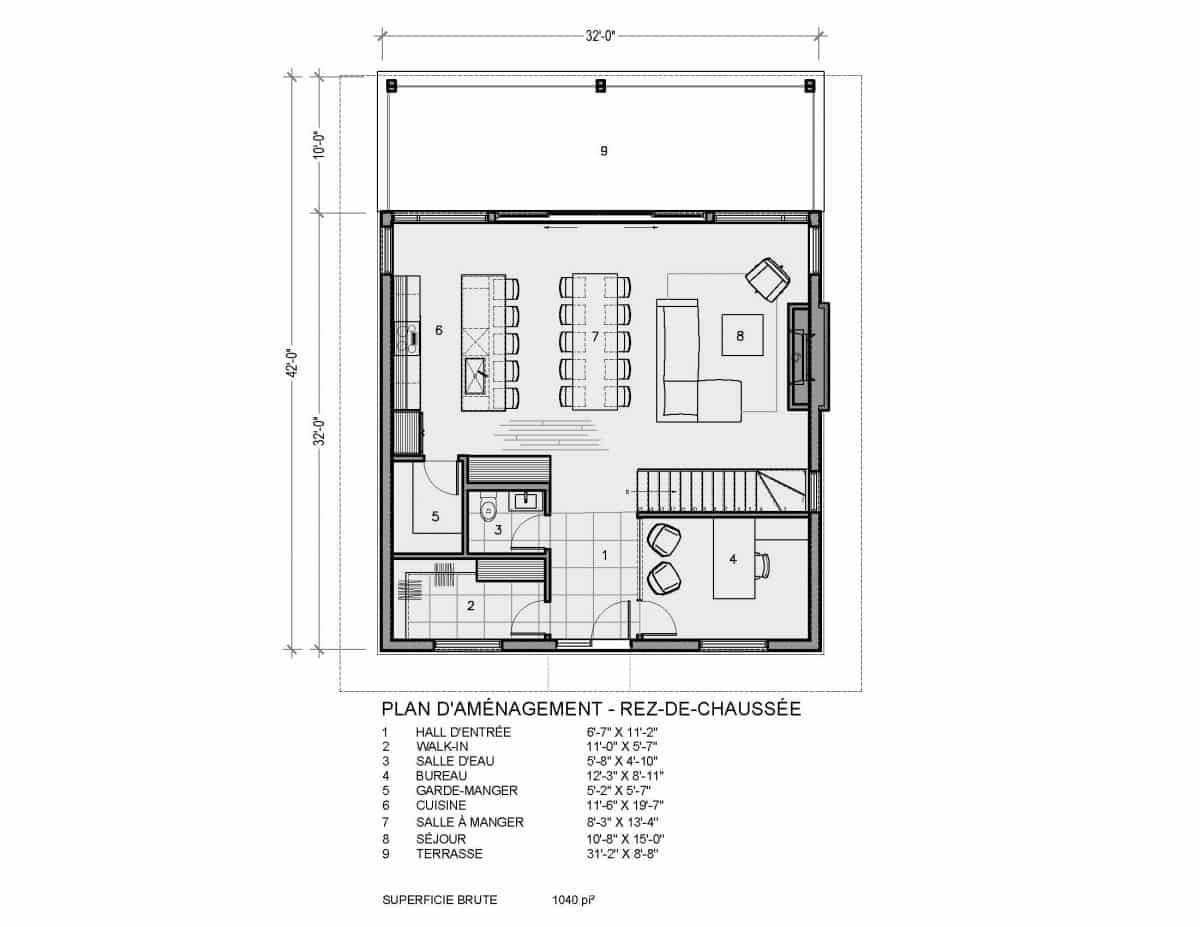 plan construction chalet