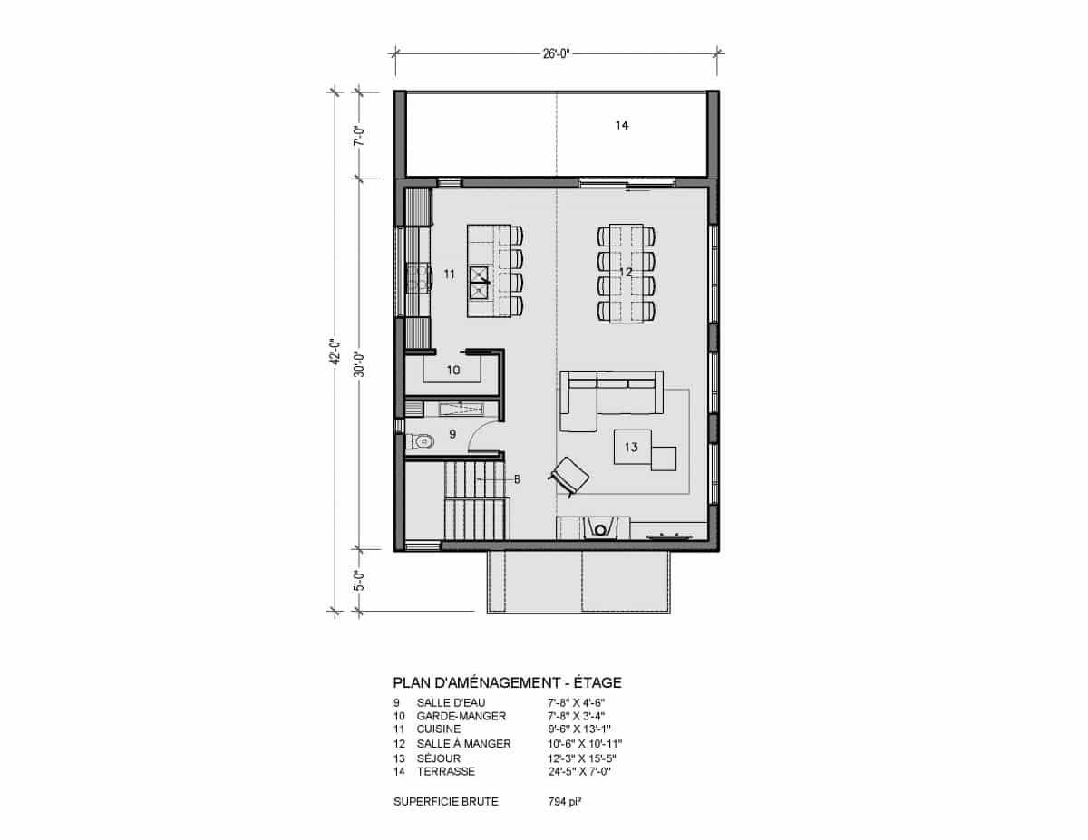 plan de maison étage Lahti