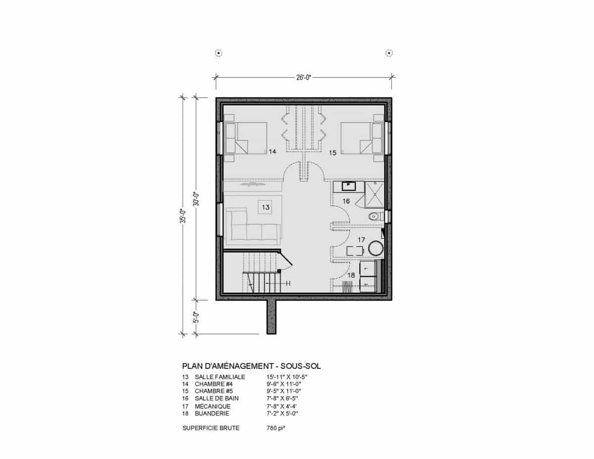 plan de maison sous sol Lahti