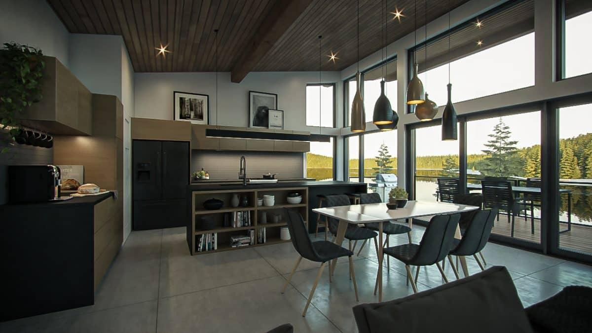 Design intérieur cuisine chalet
