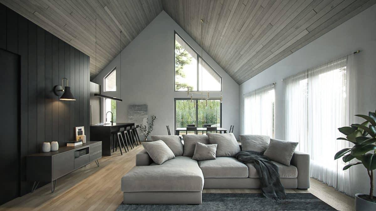 Séjour plan de maison Lahti