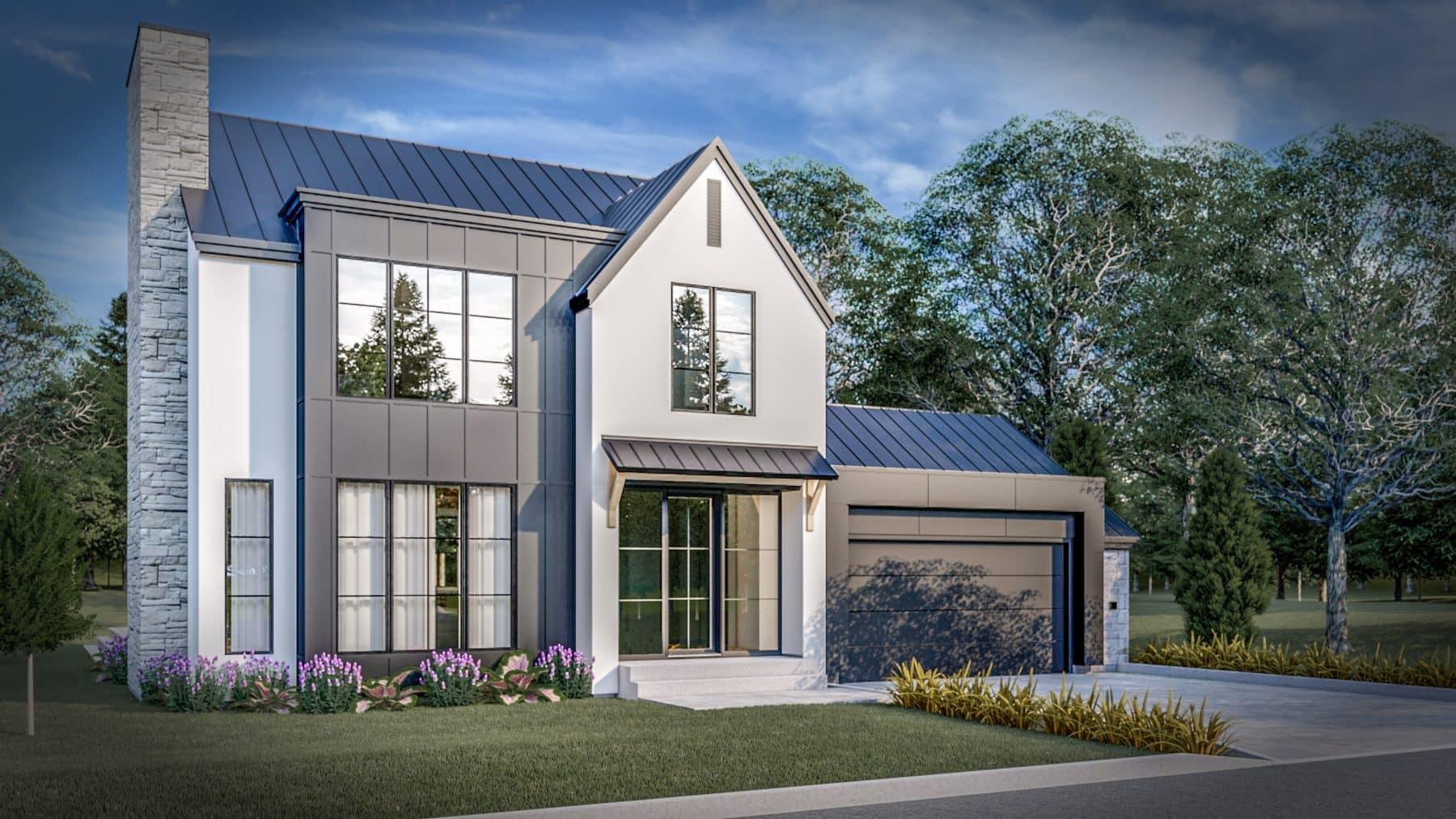 Modèle farmhouse plan Reston