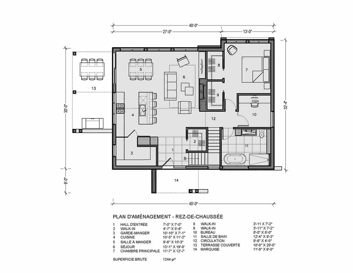 plan de maison rez de chaussée kamouraska