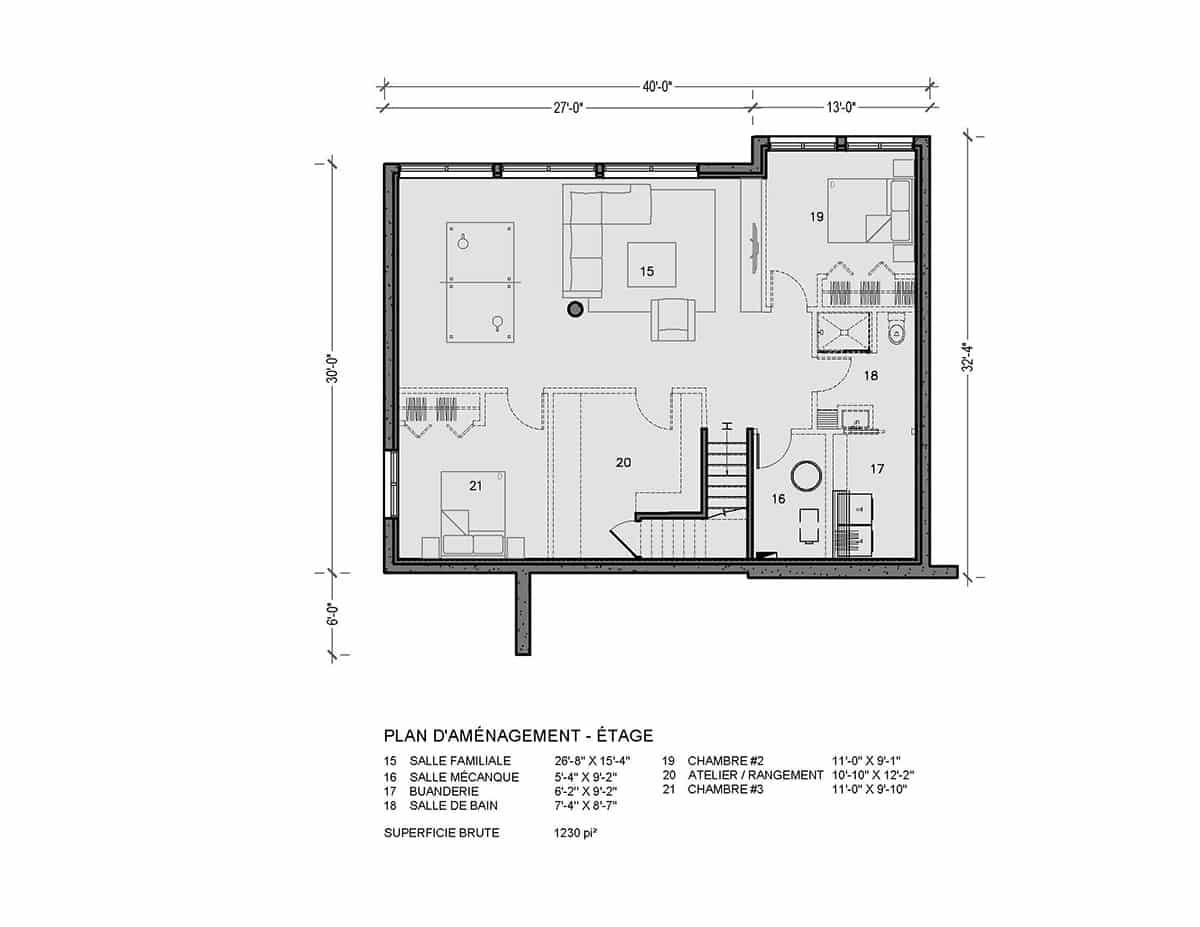 plan de maison étage kamouraska