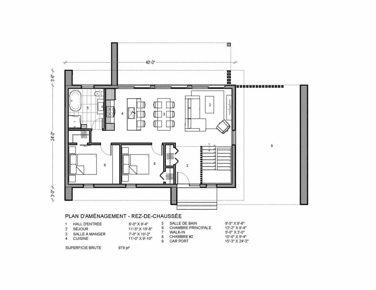 plan de maison rez de chaussée Niva