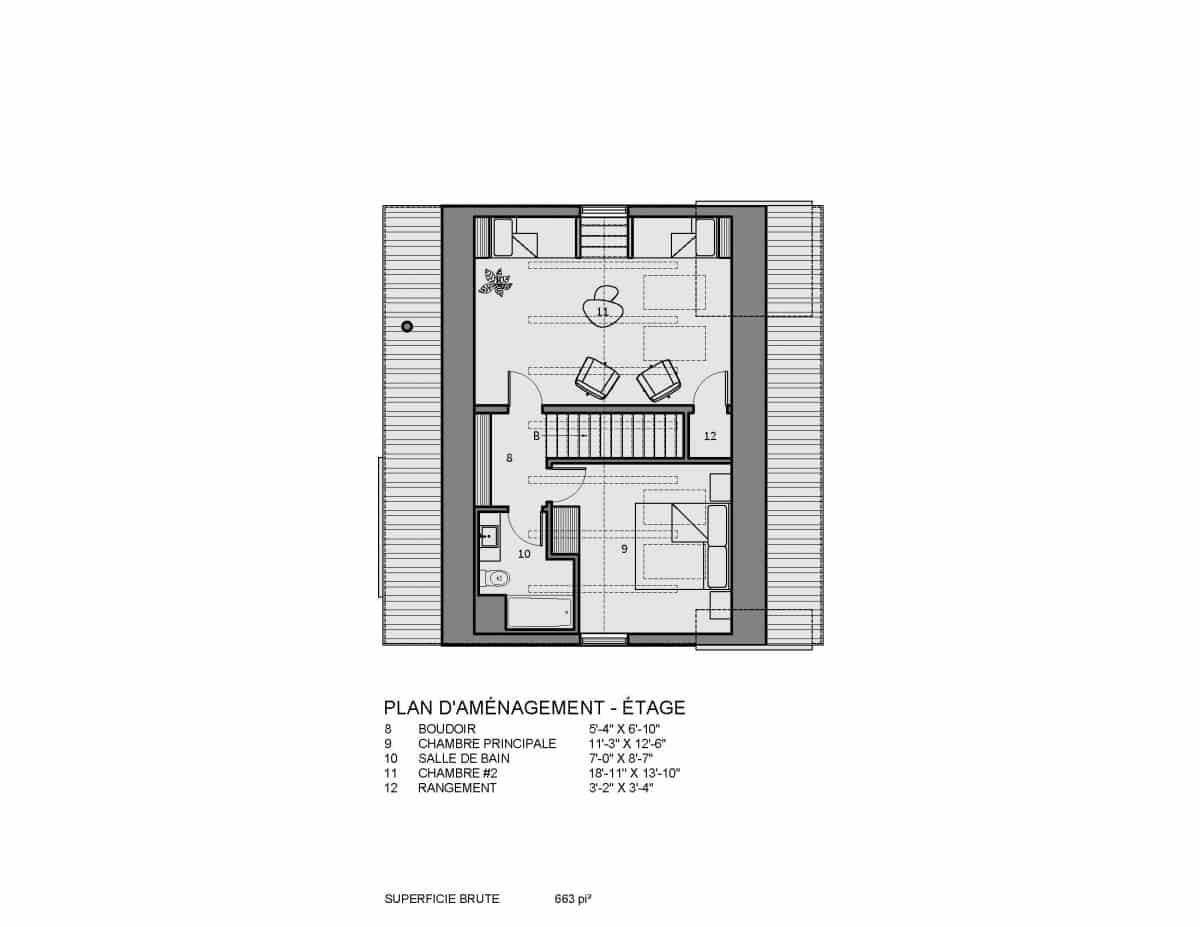 plan de maison étage Bolton