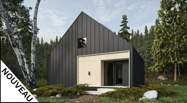 Façade plan de maison plain pied scandinave Bolton