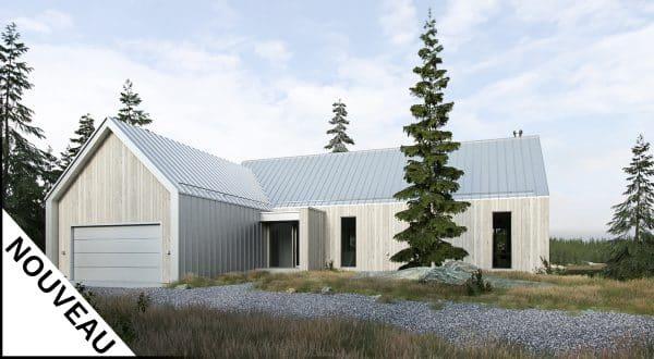 façade plan de maison Moss