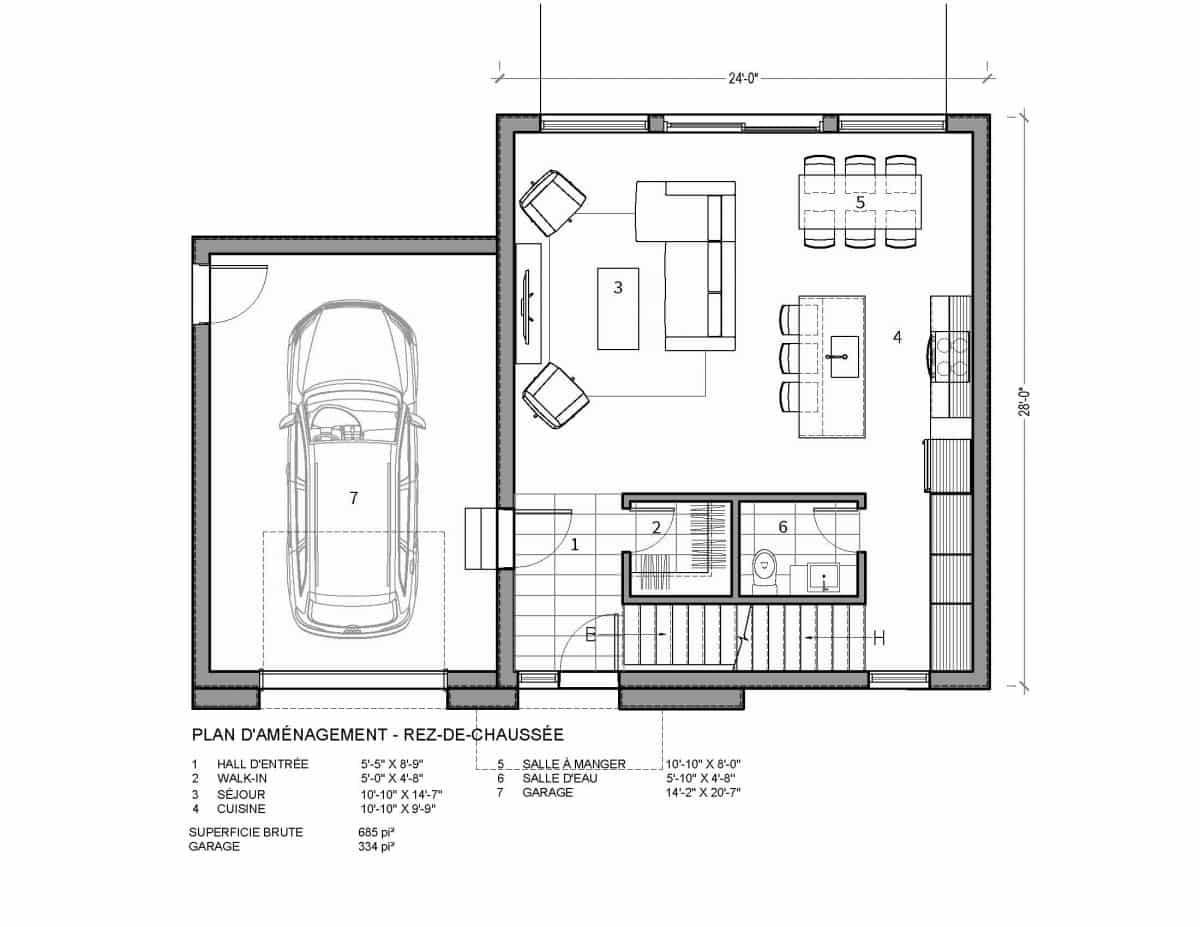 plan de maison rez de chaussée Nutak