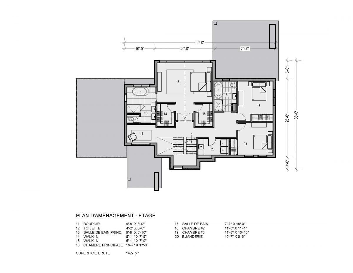 Plan de maison étage Sonoma