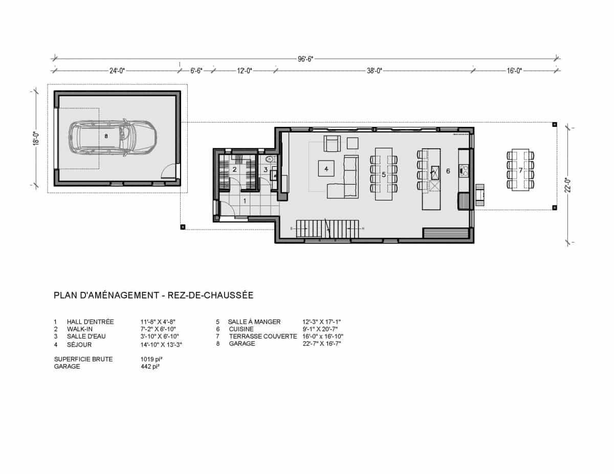 plan de maison rez de chaussée capetown