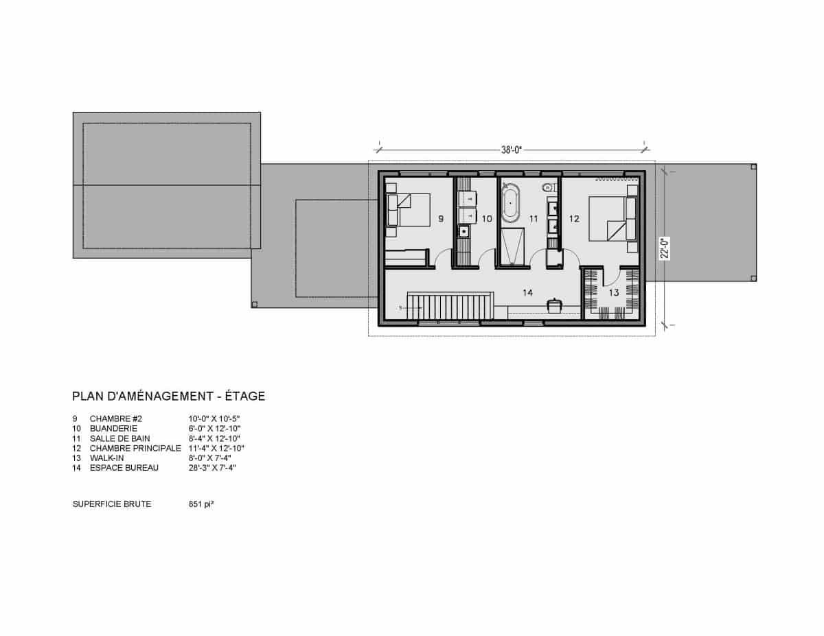 Plan de maison étage Capetown