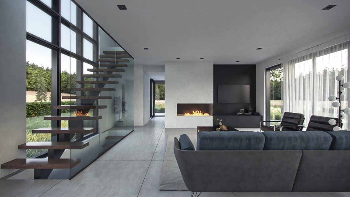 Design intérieur séjour plan maison Capetown