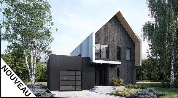 modèle façade scandinave plan Nora