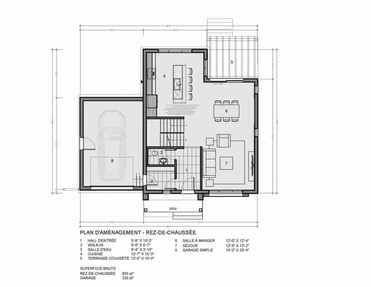 plans de maisons farmhouse rez de chaussée