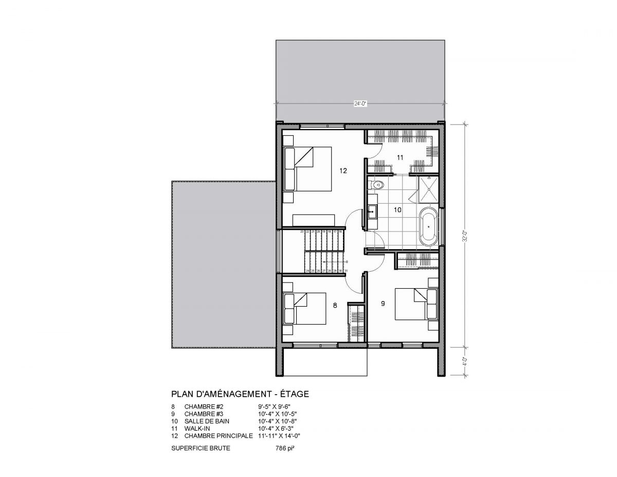 plan de maison étage Nora