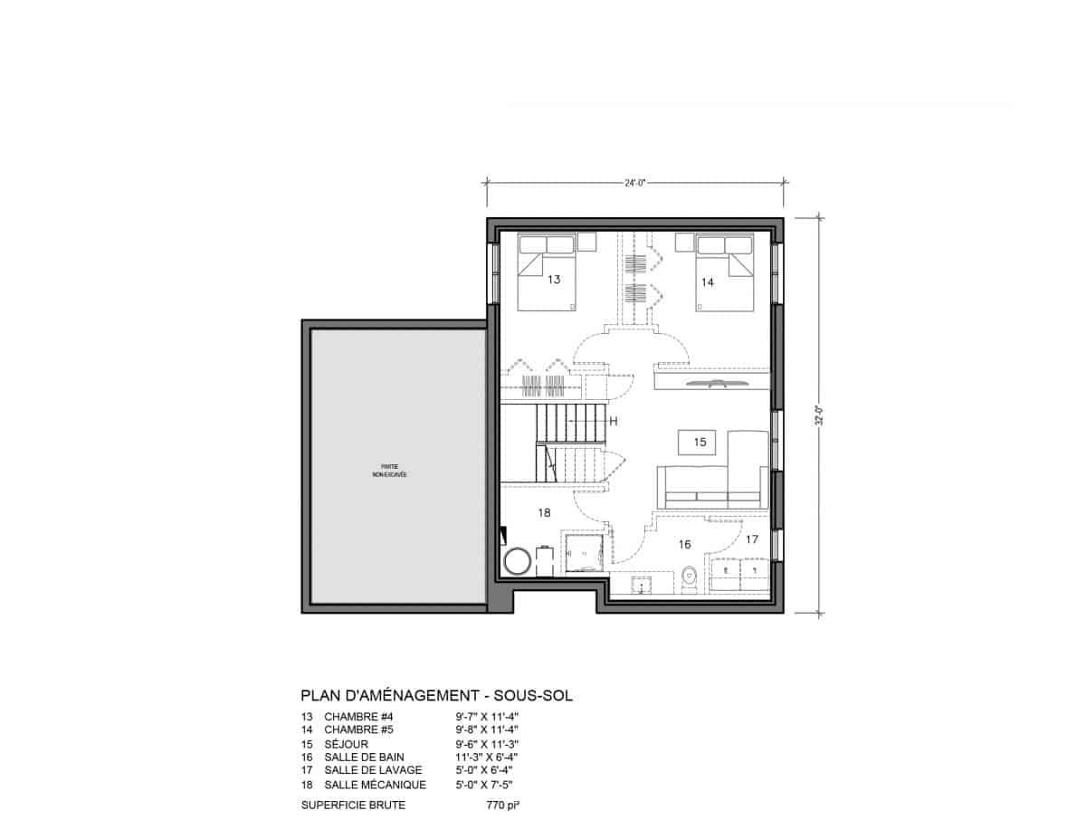 plan maison Nora