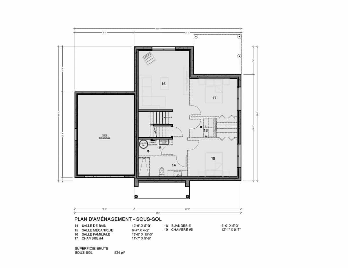 Plan de maison Crofton