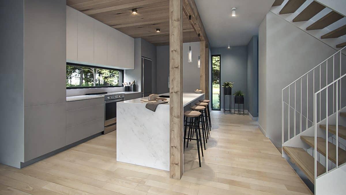 Design intérieur cuisine plan Nora