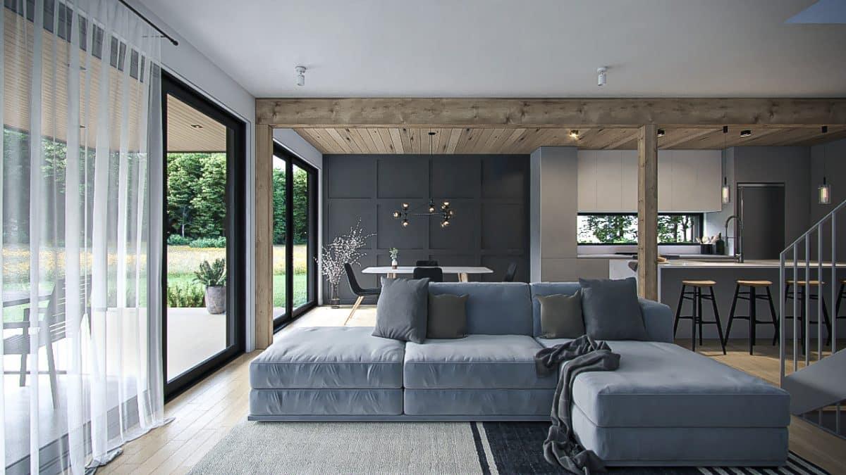 design intérieur salon plan Nora