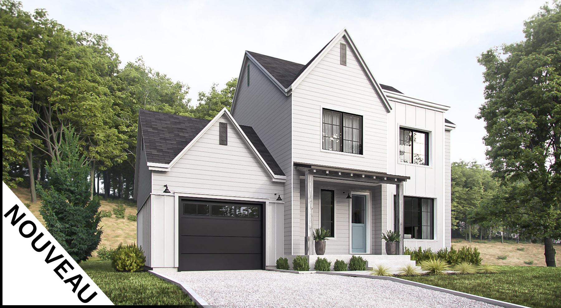 modèle farmhouse façade plan crofton