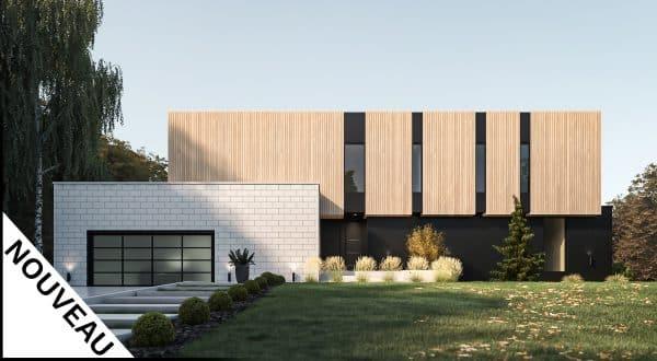 Modèle maison moderne plan Salton