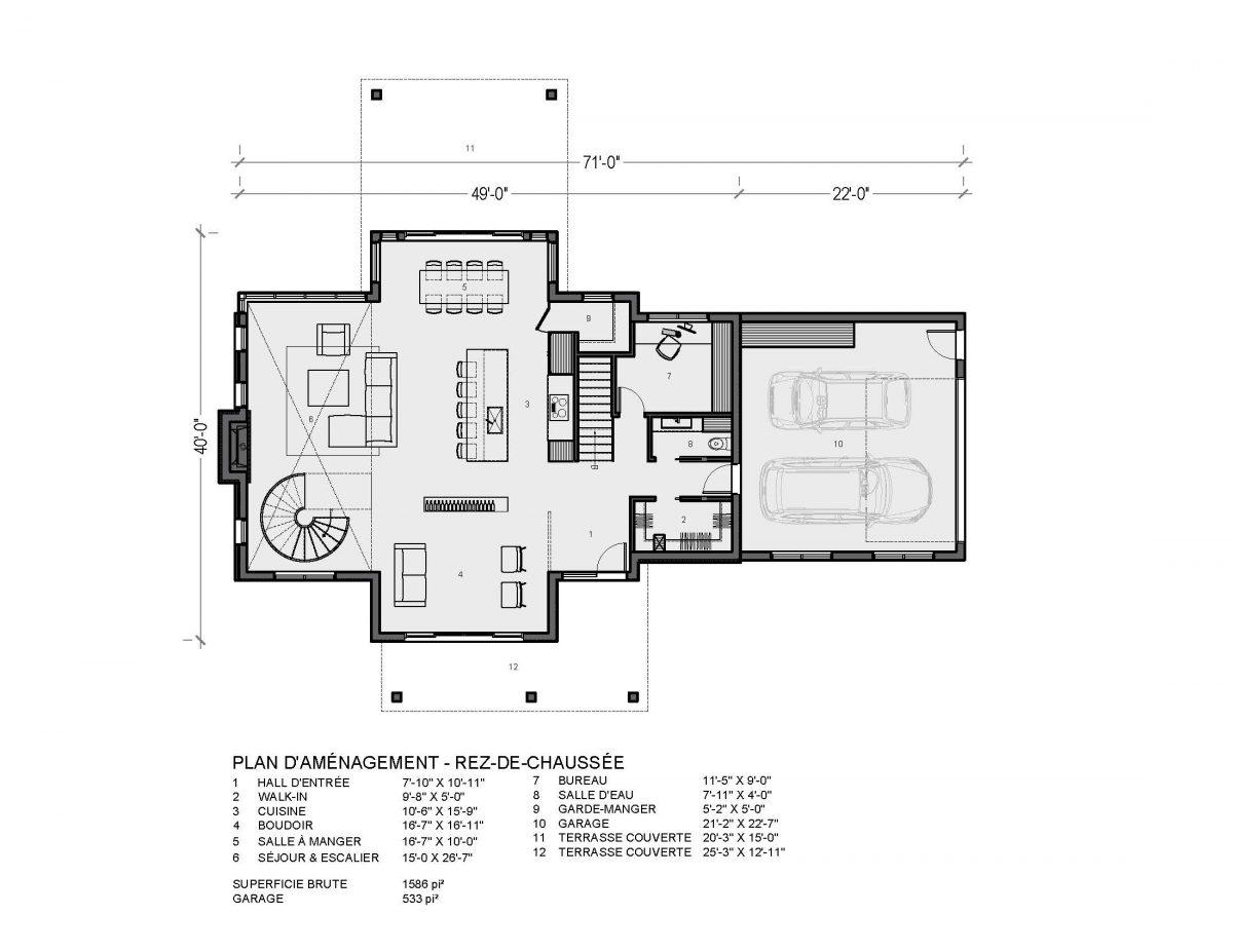 plan de maison farmhouse luxe