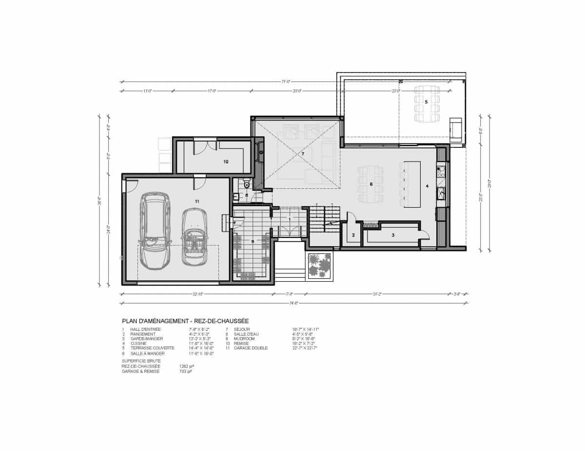 Plan de maison rez de chaussée Salton