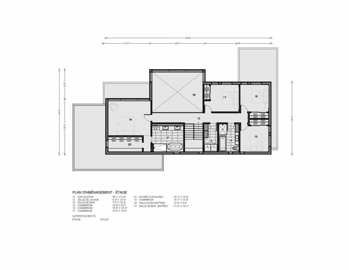 plan de maison étage Salton