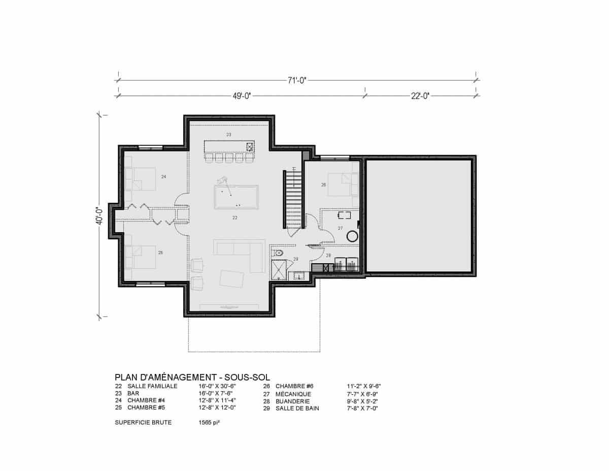 plan de maison farmhouse Montauk