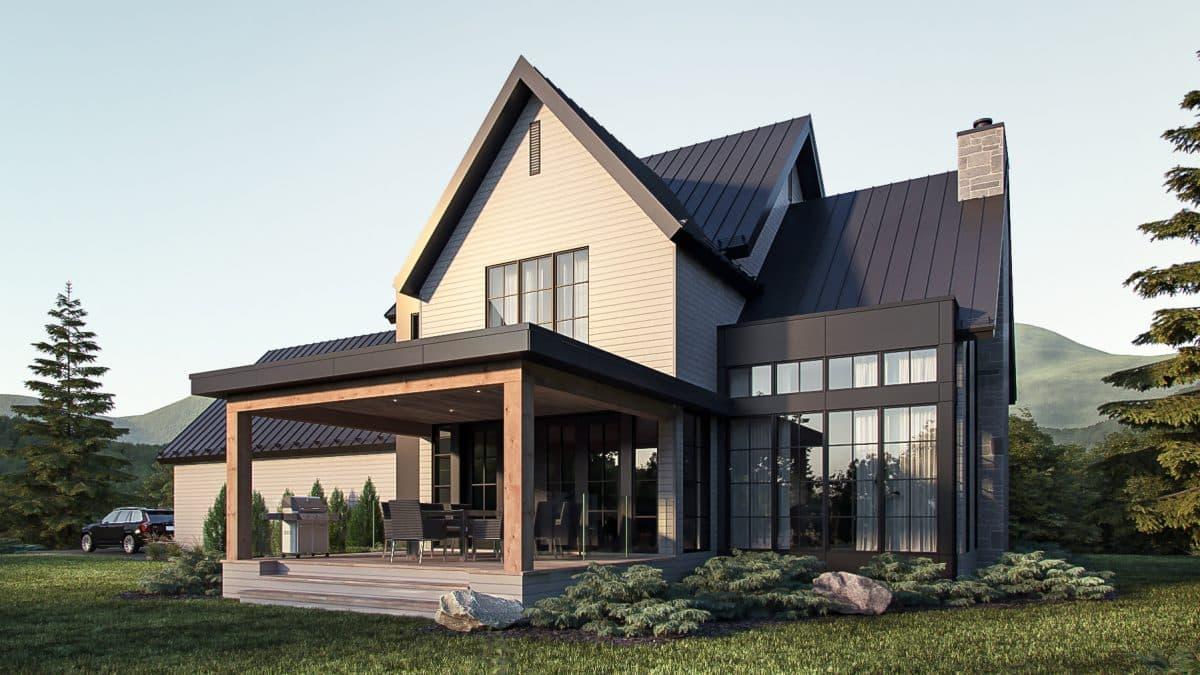 modèle maison farmhouse luxe
