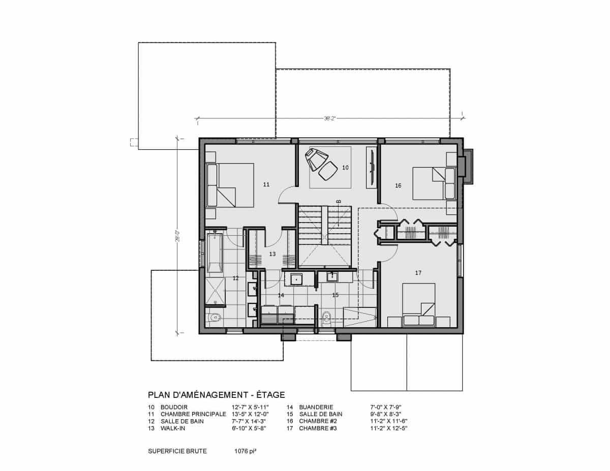 plan de maison farmhouse