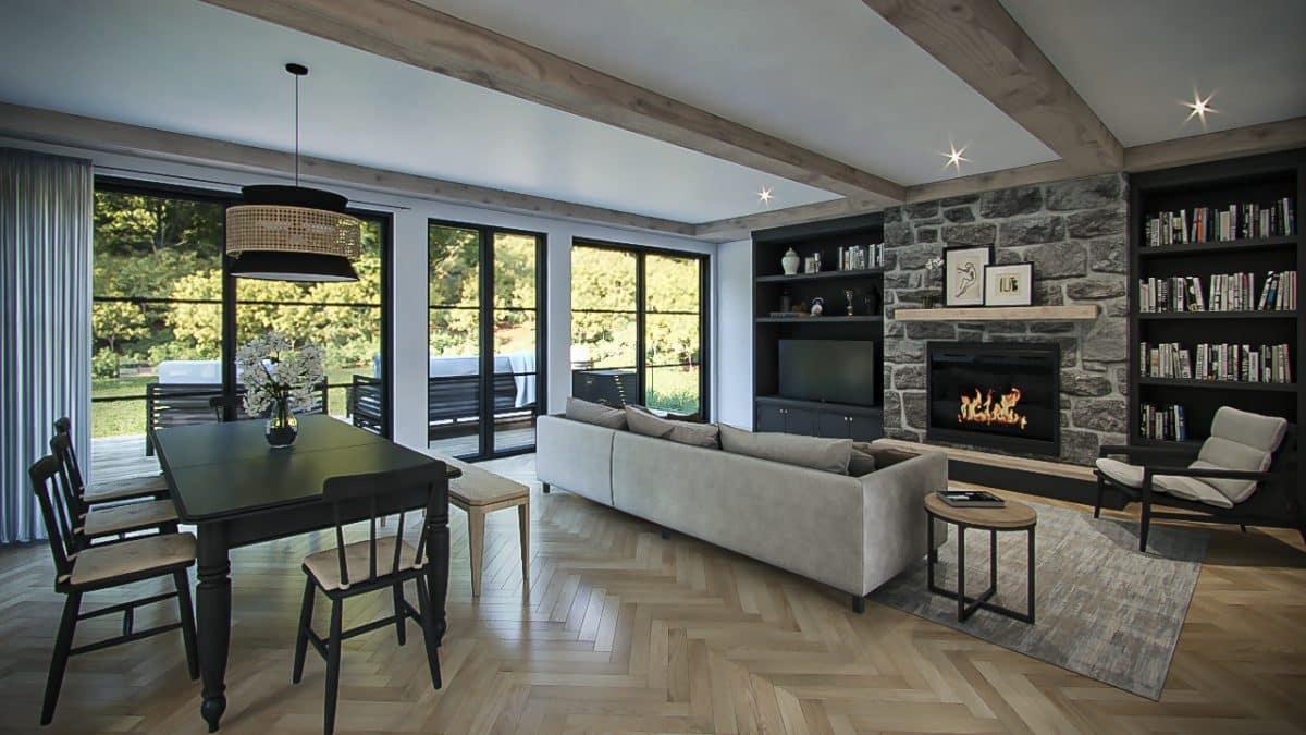design intérieur plan maison farmhouse