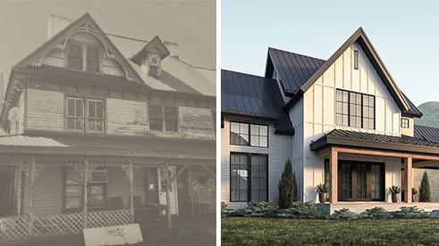 maison farmhouse moderne vs ancienne