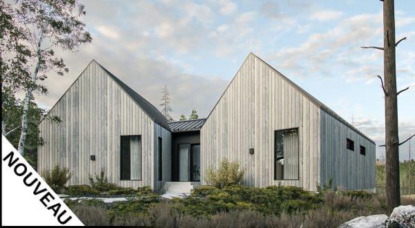 modèle plan de maison scandinave